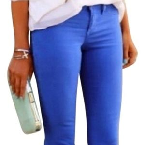J.Crew Matchstick Jeans in Bright Blue